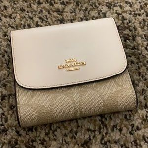 Cream coach wallet